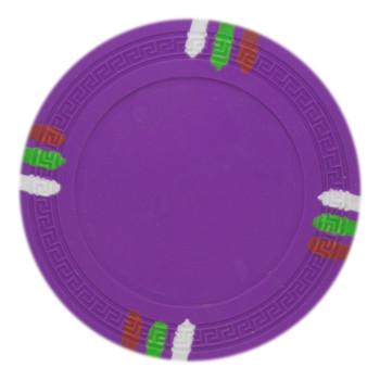 Roll of 25 - Purple Blank Claysmith 12 Stripe Poker Chip - 1
