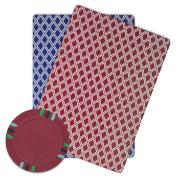 Roll of 25 - Red Blank Claysmith 12 Stripe Poker Chip - 13.5