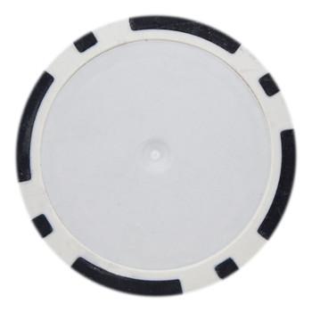 Roll of 25 - Black Blank Poker Chips - 14 Gram