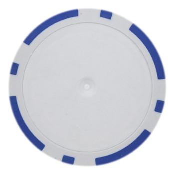 Roll of 25 - Blue Blank Poker Chips - 14 Gram