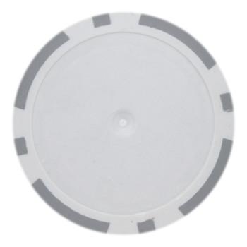 Roll of 25 - Gray Blank Poker Chips - 14 Gram