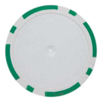 Roll of 25 - Green Blank Poker Chips - 14 Gram