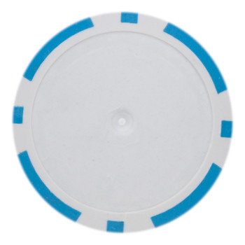Roll of 25 - Light Blue Blank Poker Chips - 14 Gram