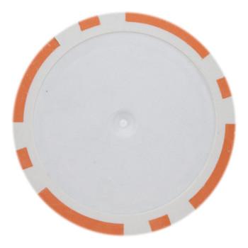 Roll of 25 - Orange Blank Poker Chips - 14 Gram