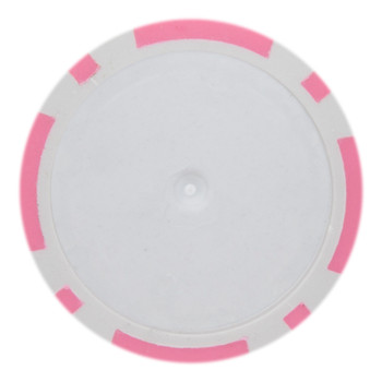 Roll of 25 - Pink Blank Poker Chips - 14 Gram