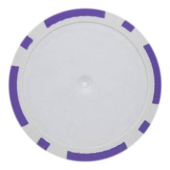 Roll of 25 - Purple Blank Poker Chips - 14 Gram