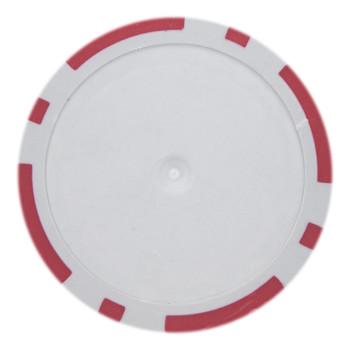 Roll of 25 - Red Blank Poker Chips - 14 Gram