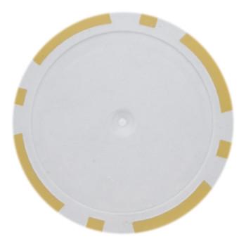 Roll of 25 - Yellow Blank Poker Chips - 14 Gram