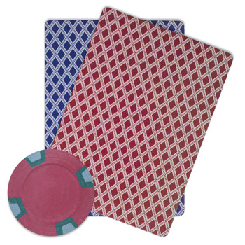 Roll of 25 - Red Blank Claysmith Double Trapezoid Poker Chip