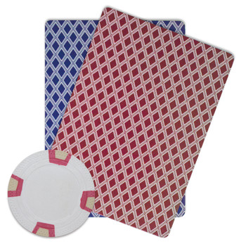 Roll of 25 - White Blank Claysmith Double Trapezoid Poker Ch