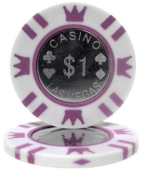 Roll of 25 - Coin Inlay 15 Gram - $1 Chip