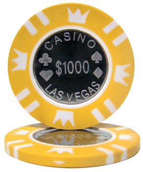 Roll of 25 - Coin Inlay 15 Gram - $1,000 Chip