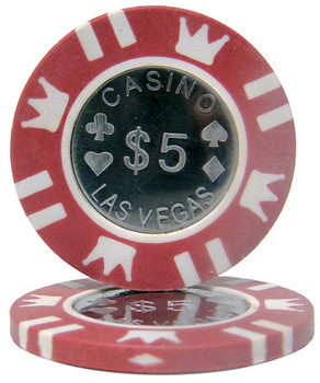 Roll of 25 - Coin Inlay 15 Gram - $5 Chip
