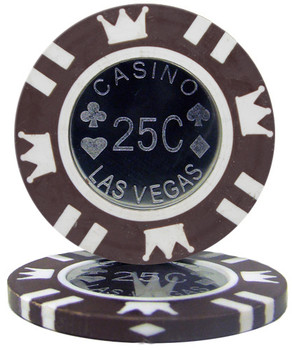 Roll of 25 - Coin Inlay 15 Gram - .25¢ (cent) Chip