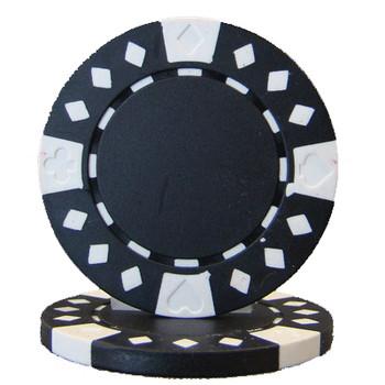 Roll of 25 - Diamond Suited 12.5 gram - Black