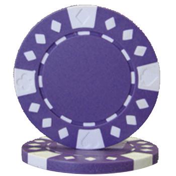Roll of 25 - Diamond Suited 12.5 gram - Purple