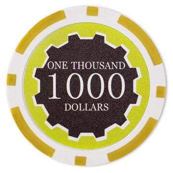 Roll of 25 - Eclipse 14 Gram Poker Chips - $1,000