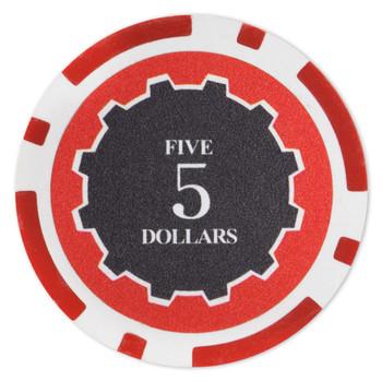Roll of 25 - Eclipse 14 Gram Poker Chips - $5