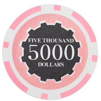 Roll of 25 - Eclipse 14 Gram Poker Chips - $5,000