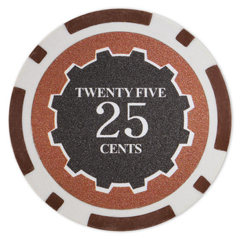 Roll of 25 - Eclipse 14 Gram Poker Chips - .25¢ (cent)