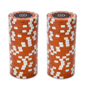 Roll of 25 - Eclipse 14 Gram Poker Chips - .50¢ (cent)