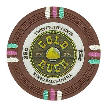 Roll of 25 - Gold Rush 13.5 Gram - .25¢ (cent)