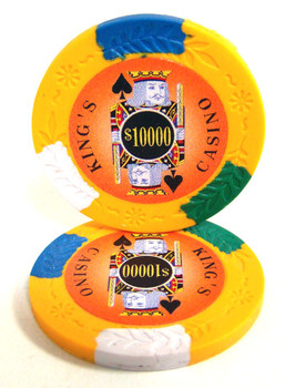 Roll of 25 - King's Casino 14 gram Pro Clay - $10,000