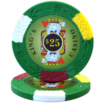 Roll of 25 - King's Casino 14 gram Pro Clay - $25