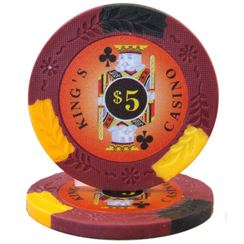 Roll of 25 - King's Casino 14 gram Pro Clay - $5