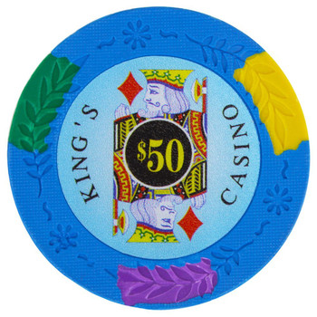 Roll of 25 - King's Casino 14 gram Pro Clay - $50