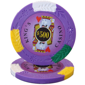 Roll of 25 - King's Casino 14 gram Pro Clay - $500