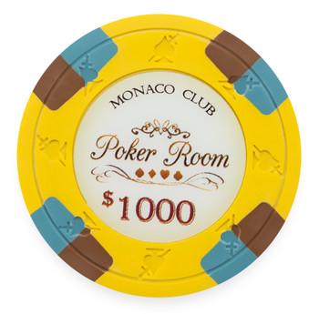Monaco Club 13.5 Gram, $1,000, Roll of 25