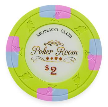 Monaco Club 13.5 Gram, $2, Roll of 25