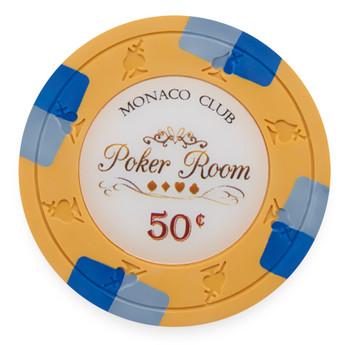 Monaco Club 13.5 Gram, $0.50, Roll of 25