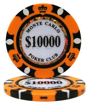 Roll of 25 - $10,000 Monte Carlo 14 Gram Poker Chips