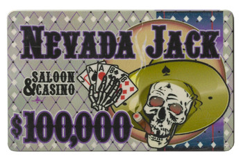 Roll of 25 - $100,000 Nevada Jack 40 Gram Ceramic Poker Plaq