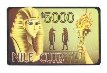 25 - $5000 Nile Club 40 Gram Ceramic Poker Plaques