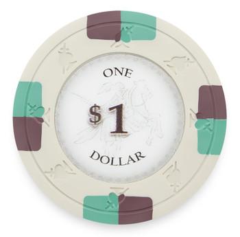 Poker Knights 13.5 Gram, $1, Roll of 25