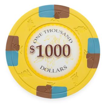 Poker Knights 13.5 Gram, $1,000, Roll of 25