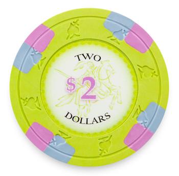 Poker Knights 13.5 Gram, $2, Roll of 25