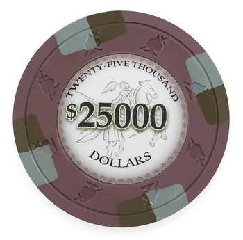 Poker Knights 13.5 Gram, $25,000, Roll of 25