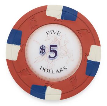 Poker Knights 13.5 Gram, $5, Roll of 25