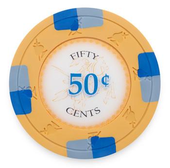 Poker Knights 13.5 Gram, $0.50, Roll of 25