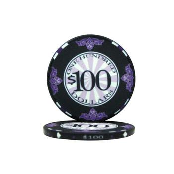 Roll of 25 - $100 Scroll 10 Gram Ceramic Poker Chip