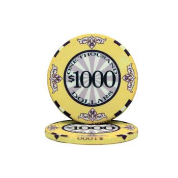 Roll of 25 - $1000 Scroll 10 Gram Ceramic Poker Chip