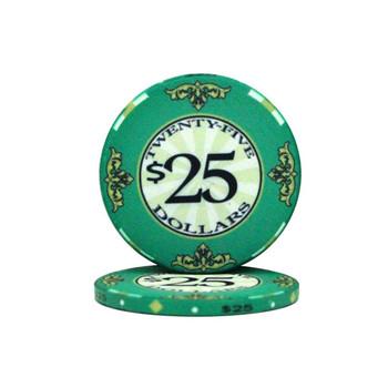 Roll of 25 - $25 Scroll 10 Gram Ceramic Poker Chip