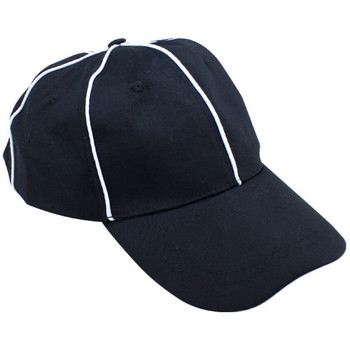 Official Referee Hat – Adjustable Black with White Stripes