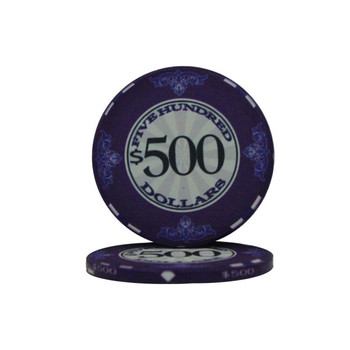 Roll of 25 - $500 Scroll 10 Gram Ceramic Poker Chip