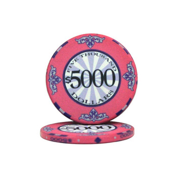 Roll of 25 - $5000 Scroll 10 Gram Ceramic Poker Chip