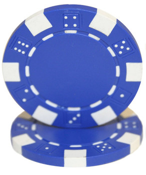 Roll of 25 - Striped Dice 11.5 gram - Blue